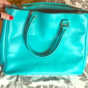 Handbags - Turquoise leather purse
